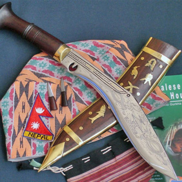 Dhankute Wooden Engraved Blade