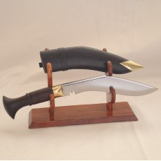 "5"" Biltong Khukuri Wooden/Horn/ Aluminum/ Brass Handle, Leather Sheath"